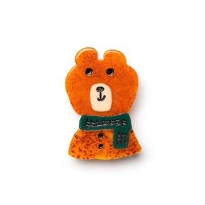 matei アクリルブローチ(ミズノマサミ)  Bear-B
