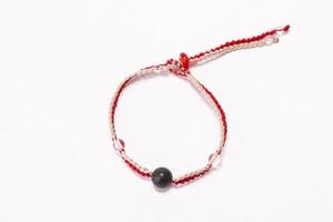 富士山溶岩ブレスレット[Lava Bracelet]〜レッド×ベージュ〜