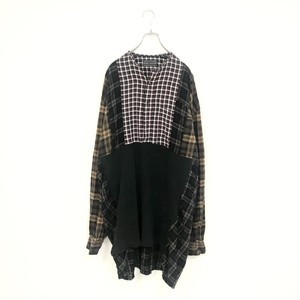 REMAKE PULLOVER LONG SHIRT(BROWN)