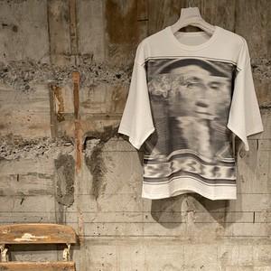 Dessin de Mode【デッサン ド モード】《KOTA OKUDA》天竺ハーツプリントTシャツ | KOK-03-55D(WHITE-B).