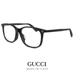 グッチ メガネ メンズ レディース ユニセックス gg0157oa 001 アジアンフィットモデル GUCCI 眼鏡 ウェリントン型 黒縁