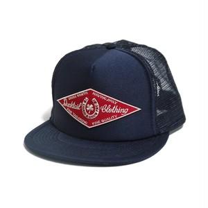 "DUCKTAIL CLOTHING TRUCKER CAP ""HORSESHOE"" NAVY ダックテイル クロージング メッシュキャップ"