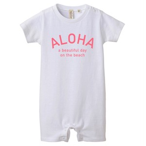 ★Baby★ALOHA Rompers - White/Pink