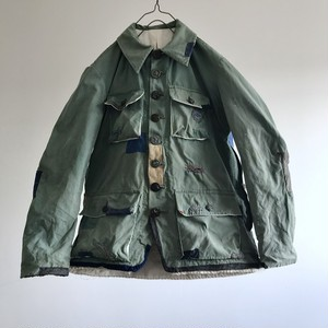 """1960's Vintage Cotton Canvas Hunting Jacket By French  Manufacture """"COLAMTISS"""""""