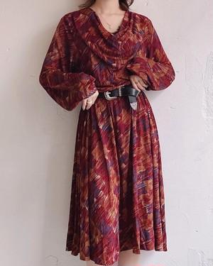 vintage dreped neck dress