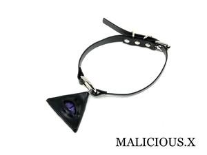 reptelis(D)eye ring choker/ purple(black)