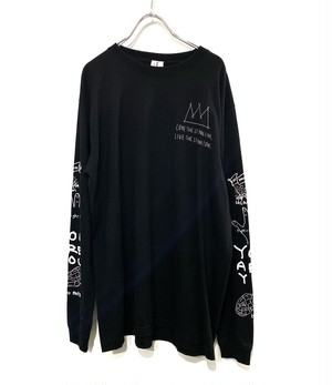 OMIYAGE by POURTON DE MOI POSITIVE GRAFFITI L/S TEE black