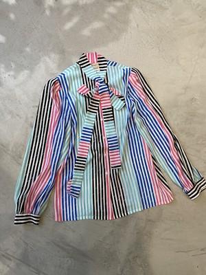 euro vintage multicolored stripe shirt