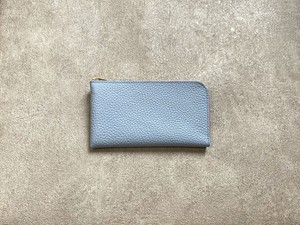 """SHOZO Wallet (soft shrink) : SkyBlue * Won Grand Prix of the small leather article category in """"Asia Pacific Leather Fair 2019"""""""