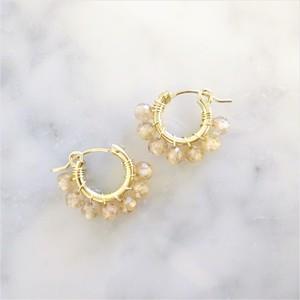 女優高梨臨さん着用 送料無料14kgf*宝石質AAA 天然Zircon wrapped pierced earring / earring