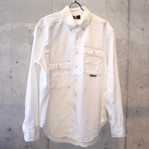 RETRO FUTURE DENIM SHIRT / WHITE