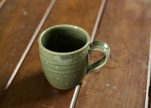 藍媚茶釉マグカップ