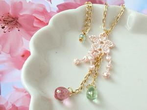 枝垂桜のドール用ネックレス