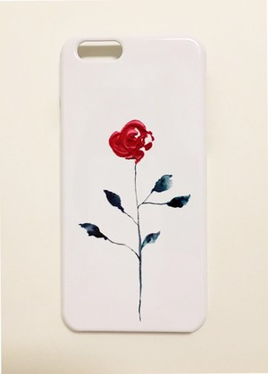 iPhone6Plus/6sPlus/7Plus/8Plusケース〈one rose〉