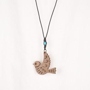 青い鳥のネックレス Juglansクルミの木のアクセサリー
