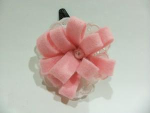 ヘアピン(花)サーモンピンク