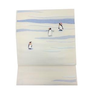 西陣織 とみや織物 名古屋帯 ペンギン柄