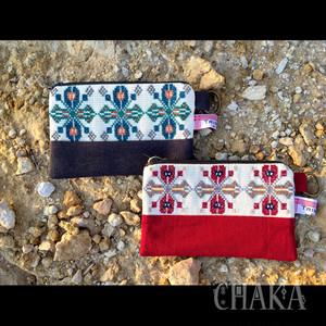 TRIBALOGY/パレスチナ刺繍のフラワーポーチ