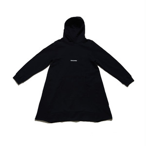 SEASONING HOODIE ONE PIECE - BLACK   -WOMEN'S-