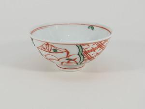 赤絵地紋東屋 飯碗