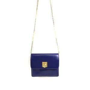 1c82a0209505 CELINE セリーヌ ガンチーニ チェーン ミニ ショルダーバッグ ポシェット ブルー vintage ヴィンテージ オールドセリーヌ パーティー  バッグ