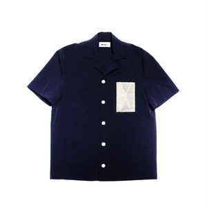 Letter Pocket shirt NAVY -dilemma-