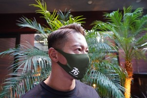 No,76 logo dry fit mask(OLIVE)