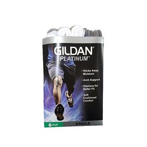 GILDAN - PLATINUM ANKLE SOCKS (6P) (White)