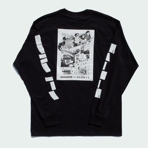 【受注生産】BimBamBoom meets DEENEY'S Long sleeved Manga T-shirt(ディーニーズブラック)