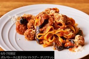 【テレワーク×Pasta】ポルペットーネと茄子のトマトラグー タリアテッレ2人前
