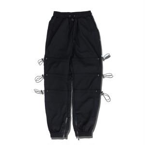 STRING TRACK PANTS / BLACK