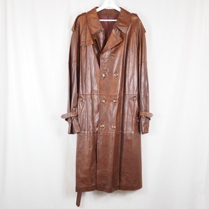 Leather Trench Coa