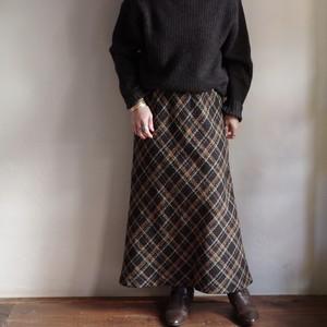 Plaid Skirt / ネップヤーン チェック柄 スカート