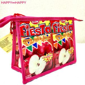 エシカルでかわいい!りんご柄ポーチ