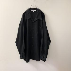 リネンシャツ ジャケット ブラック size 3XL メンズ 古着
