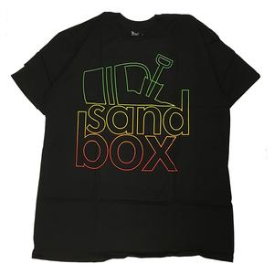 SANDBOX LOGO TEE - BLACK/RASTA -L-