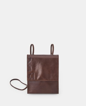 GLOSSY LEATHER VERTICAL SHOULDER BAG [266272258102]