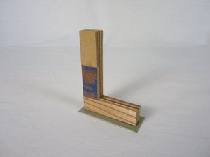 切り文字 L (木のパッチワーク)