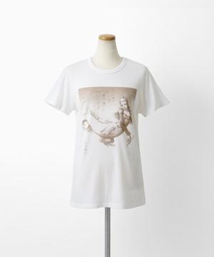 QXQX Tシャツ(巾着ケース付)黒蜥蜴 うつし世は夢