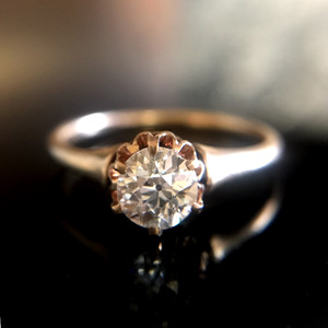 Old Europiancut Antique Diamond Ring