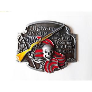 USA 国旗 星条旗 アメリカ ライフル 海賊 パイレーツ スカル ガイコツ ドクロ バックル ベルト 単品 300