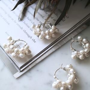 White Pearl 925 Silver Lever Back pierce