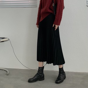 【売り切れ御免】Velvet Pleated Skirt T610