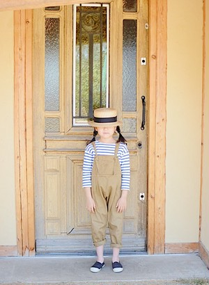 Twill overalls biscuit M