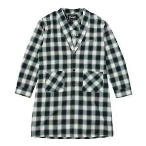 EXAMPLE OMBRE CHECK LONG GOUN SHIRT / GREEN