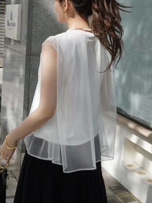 tulle layered tops / white 5/20 21:00 ~ 再販 (即納)