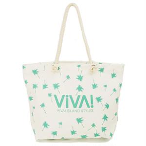 VIVA! ISLAND|ビバアイランド BEACH TOTE BAG (帆布トートバッグ/グリーン|V-912304)