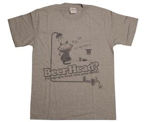 びーるのみT。7th『Beer Head ?』〔半袖〕(グレー+濃グレー)