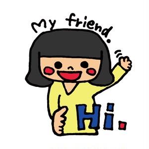 My friend. ステッカー