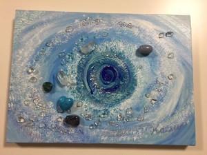 絵画(クリスタルコラージュ)Blue Print